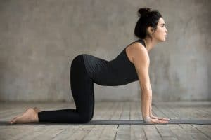 Cow pose - good for back pain